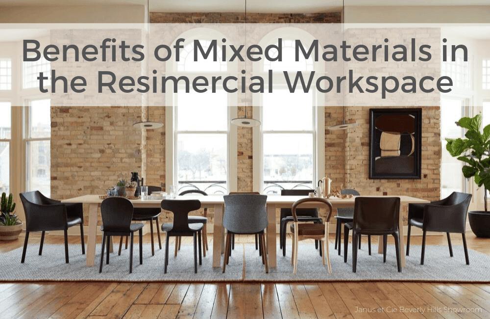 Mixed materials office design